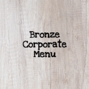 Bronze Corporate Menu