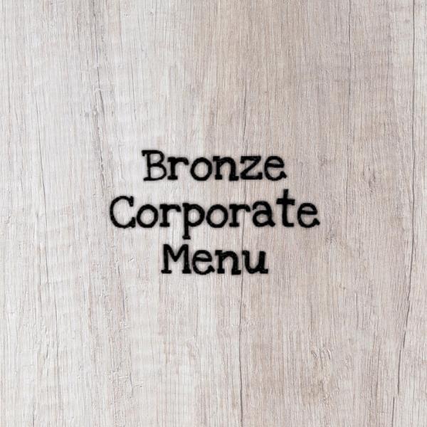 Bronze Corporate Menu